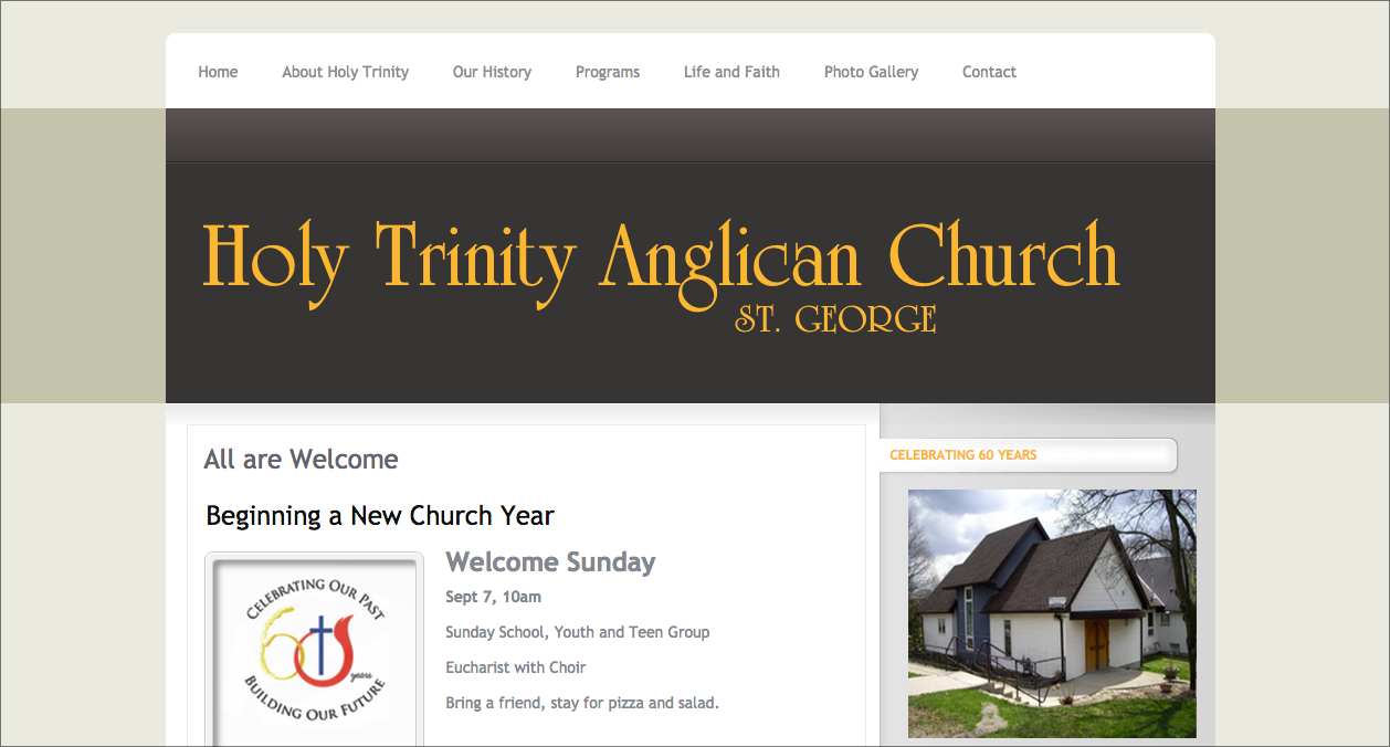 Holy Trinity Anglican Church in St. George, ON
