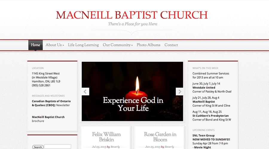 MacNeill Baptist Church in Hamilton ON